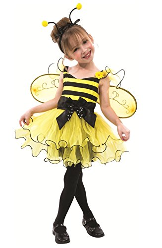 Child's Toddler Bumblebee Halloween Birthday costume Dress, Wings & Headband!