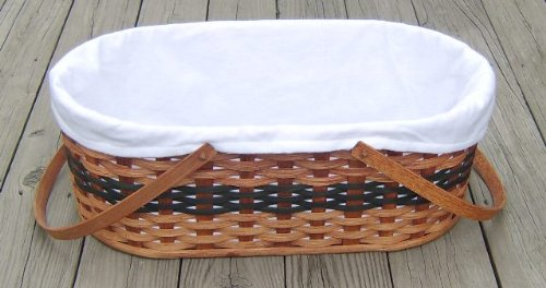 In Stock!!! Ships Same Day!!! Amish Handmade Baby Carrier Basket In Green