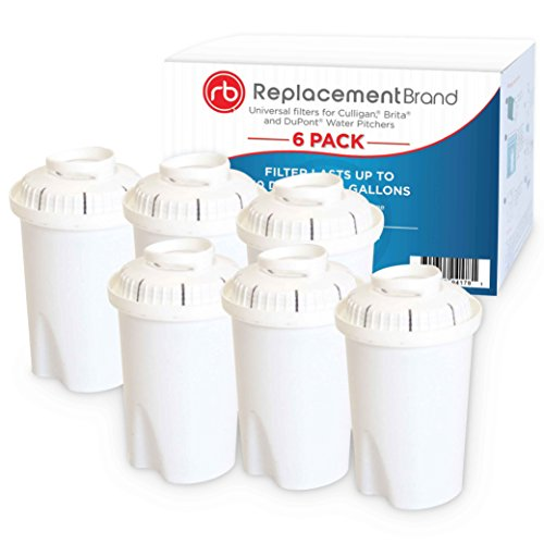 Universal ReplacementBrand Water Pitcher Filter Replacement Cartridges 6 Pack