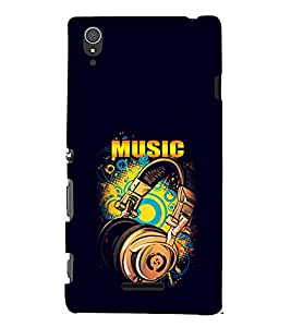 EPICCASE Beat that Music Mobile Back Case Cover For Sony Xperia T3 (Designer Case)