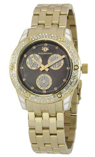 Wellington WN507-229 - Reloj analógico de cuarzo para mujer con correa de acero inoxidable, color plateado