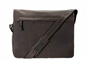Visconti 16107 Oil Brown Distressed Leather Messenger Bag / Crossbody Bag