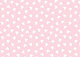 SheetWorld Fitted Pack N Play (Graco) Sheet - Hearts Pastel Pink Woven - Made In USA