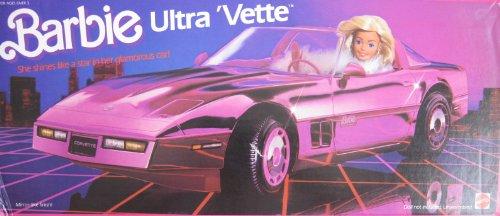 Barbie Ultra Vette Convertible Corvette Car Vehicle (1985 Mattel Hawthorne) front-970053