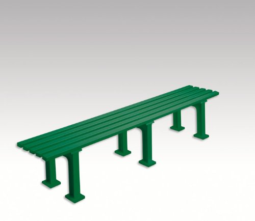 Gartenbank, Parkbank, Bank aus Kunststoff, ohne Lehne, grün, 200 cm