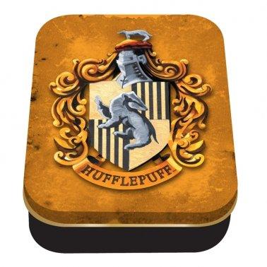 harry potter collezionisti scatola di metallo stagno hufflepuff ufficiale stemma distintivo casa