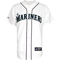 Majestic Athletic Seattle Mariners Dustin Ackley Replica Home Jersey by Majestic Athletic