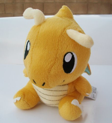 "6"" Pokemon Dragonite Plush Doll ~NEW~ Shot-in - 1"
