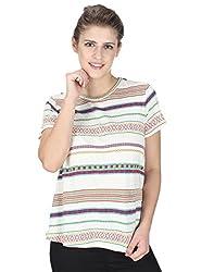 Miway Women's Half Sleeve Multicolor Tops (S)