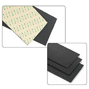 Buy Cloth-Covered Sorbothane Adhesive Padding - Thickness 1 4 (6.4mm), Size 6 x 12 (15cm x 30cm) by Rolyn Prest