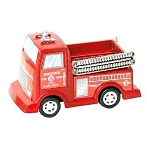 Pull Back Fire Engine Truck Toys - 12 ct
