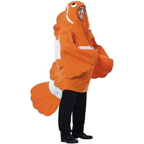 Clownfish Costume - One Size - Chest Size 42-48