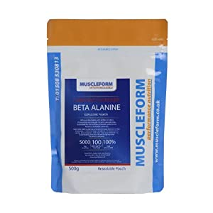 Muscleform Beta Alanine 500g Re-sealable Pouch- Fast Delivery