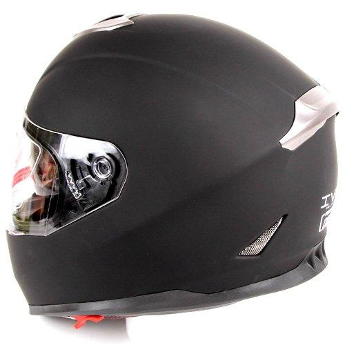 Matte black dual visor full face street bike motorcycle helmet dot xl