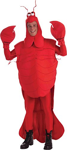 Adult Mardi Gras Big Craw Daddy Costume Crayfish Red Lobster One Std Size Mascot