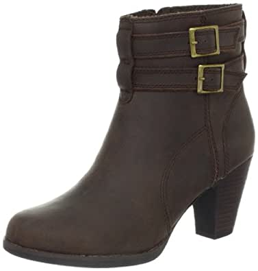 Clarks Women's Carlisle Express Boot,Brown Oily Leather,9.5 M US