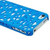 MKT TM_SkyBlue color- Bird Nest Rear Case / Skins / Cover For Apple iPhone 4 / iPhone 4S each in PolyBag