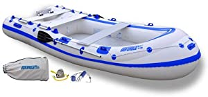 Sea Eagle 124SMB 12ft 4in Motormount Inflatable 4 Person Incl Oars by Sea Eagle