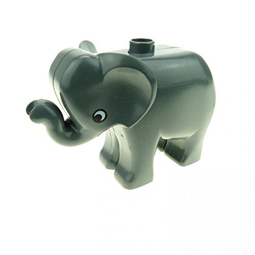 1 x Lego Duplo Tier Baby Elefant dunkel grau