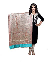 Indiweaves Fashion Women Cream Viscose Shawl