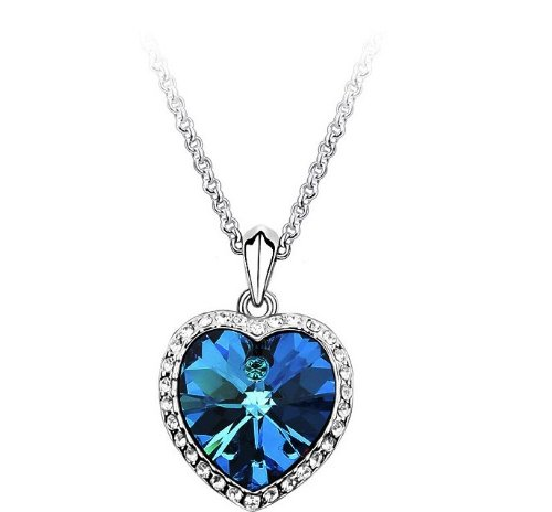 Lingstar(TM) Noble Heart Of Ocean Crystal Pendant