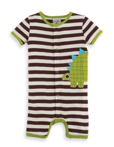 Mud Pie Baby-Boys Newborn Dinosaur Crawler, Multi, 6-9 Months back-573952