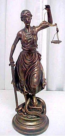 Bronze Finish Lady Justice Statue Justicia Law Themis