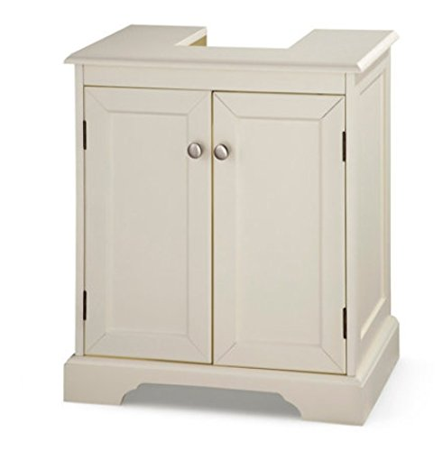 Weatherby Bathroom Pedestal Sink Storage Cabinet - Cream