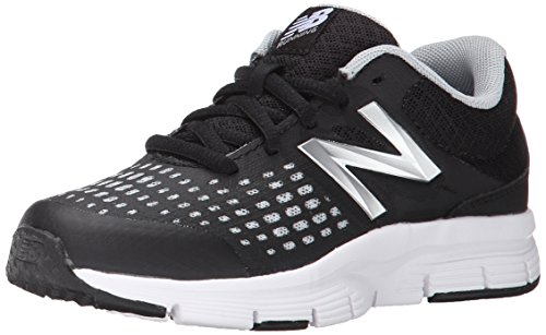 New Balance KJ775BKY Running Shoe (Big kid/Big kid/Big kid/Big Kid), Black/White, 4 W US Big kid