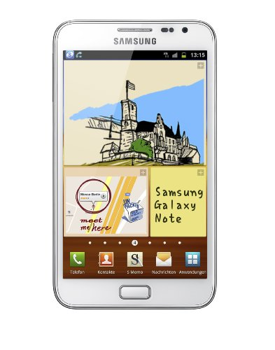 Samsung Galaxy Note N7000 Smartphone (13.5 cm (5.3 Zoll) HD Super AMOLED-Touchscreen, 8 MP Kamera, Android 2.3 OS) ceramic-white