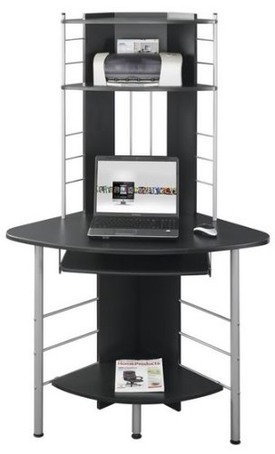 Piranha PC8g Compact Corner Computer Desk with 3 Shelves