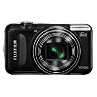 Fujifilm FinePix T200 14MP Point-and-Shoot Digital Camera (Black) with 4GB SD Card, Carry Case