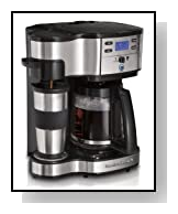 Hamilton Beach Two Way Brewer Single Serve and 12-cup Coffee Maker