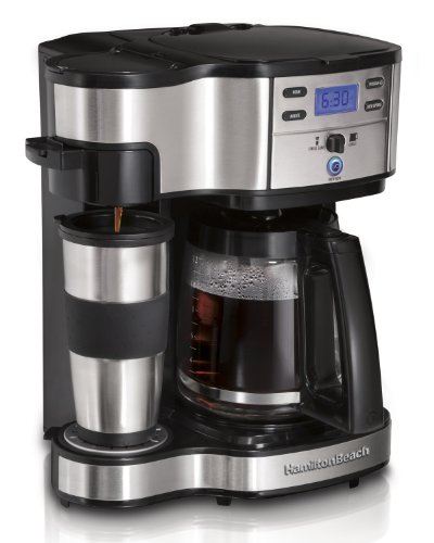 Hamilton Beach 49980Z Single Serve Coffee 2-Way Brewer and Full Pot Coffee Maker