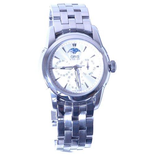 Oris Men's 581 7546 4051MB Artelier Complication White Dial Watch