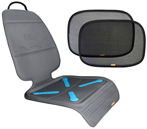 Brica Seat Guardian Car Seat Mat With Cling Window Shades front-407589