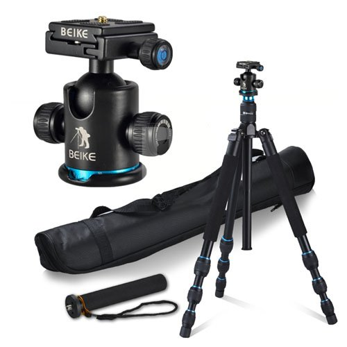 CowboyStudio Multi-function Aluminum Alloy Camera Tripod Monopod with Quick Release Plate Ball Head and Bag, BK-475 (Beike Carbon Fiber compare prices)