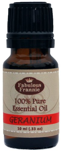 Geranium 100% Pure, Undiluted Essential Oil Therapeutic Grade - 10 ml. Great for Aromatherapy!