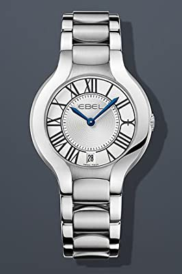 "EBEL Women's 1216070 ""Beluga"" Analog Display Swiss Quartz Silver Dress Watch"