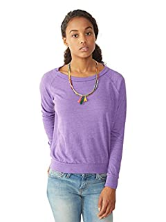 Alternative Womens Slouchy Pullover, Eco True Purple, Large
