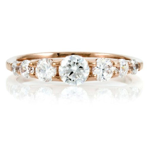 Cordeliah's Rose Gold Plated CZ Eternity Band
