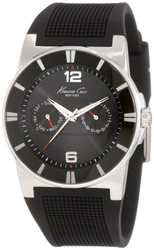 Kenneth Cole Kc1405 Mens Black Silicone Strap Watch
