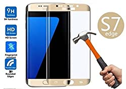 ShopAIS GOLD Anti Burst Tempered Glass for Samsung Galaxy S7 Edge-3D Curved