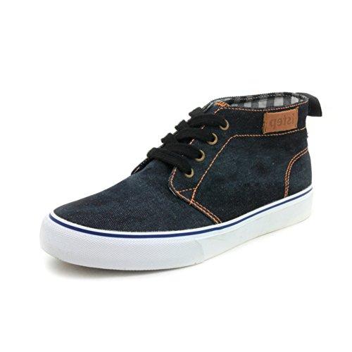 Ciao tela scarpe in autunno/Cowboy Scarpe/ pizzo scarpe casual con piatto-B Lunghezza piede=25.3CM(10Inch)