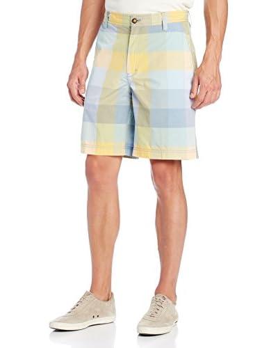 IZOD Men's Flat Front Blanket Plaid Poplin Short