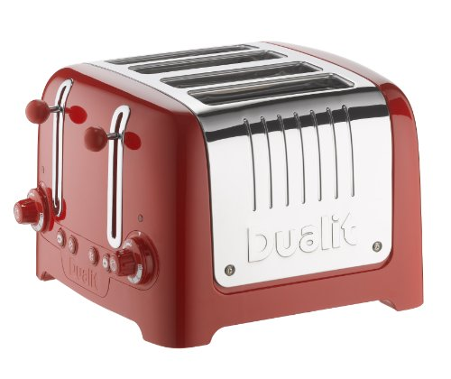 Dualit 46201 4 Slot Lite Toaster in Red Gloss Finish