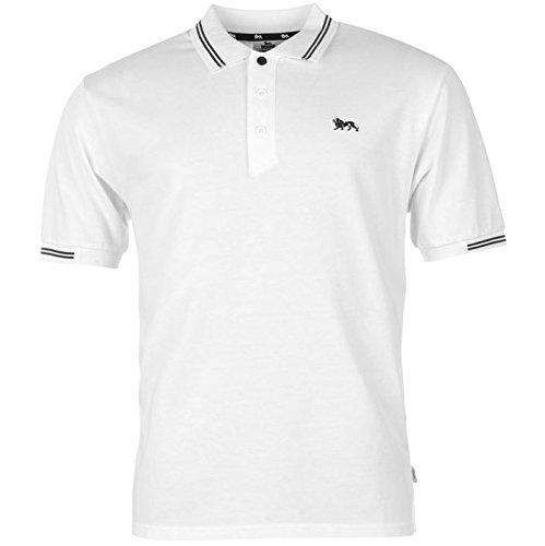 Lonsdale da uomo Classic maglietta Polo camicia, Bianco (bianco), XXL