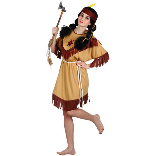 Ladies American Indian Squaw Fancy Dress Adult Costume