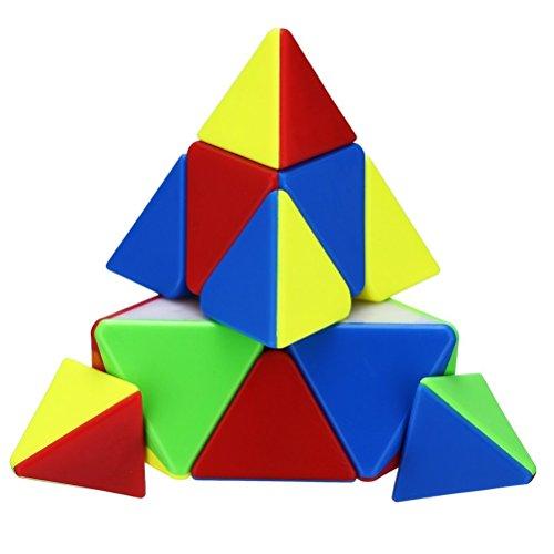 Yeelan Pyraminx Puzzle Speed Cube, Stickerless