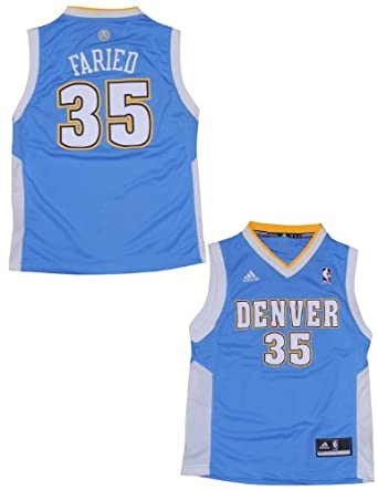 NBA Denver Nuggets Faried #35 Youth Pro Quality Athletic Jersey Top by NBA
